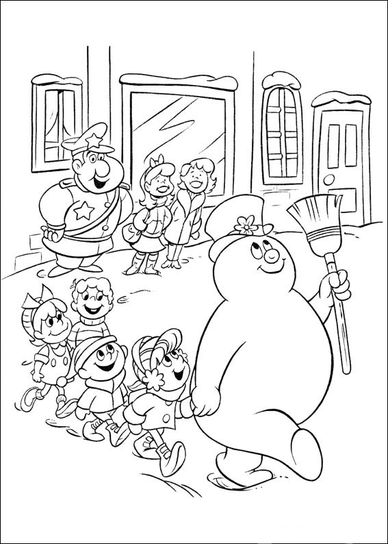 Tegninger til print sn mannen kalle 15 for Frosty the snowman coloring pages